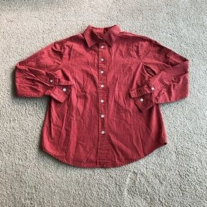 Talbots red checkered longsleeve button down shirt